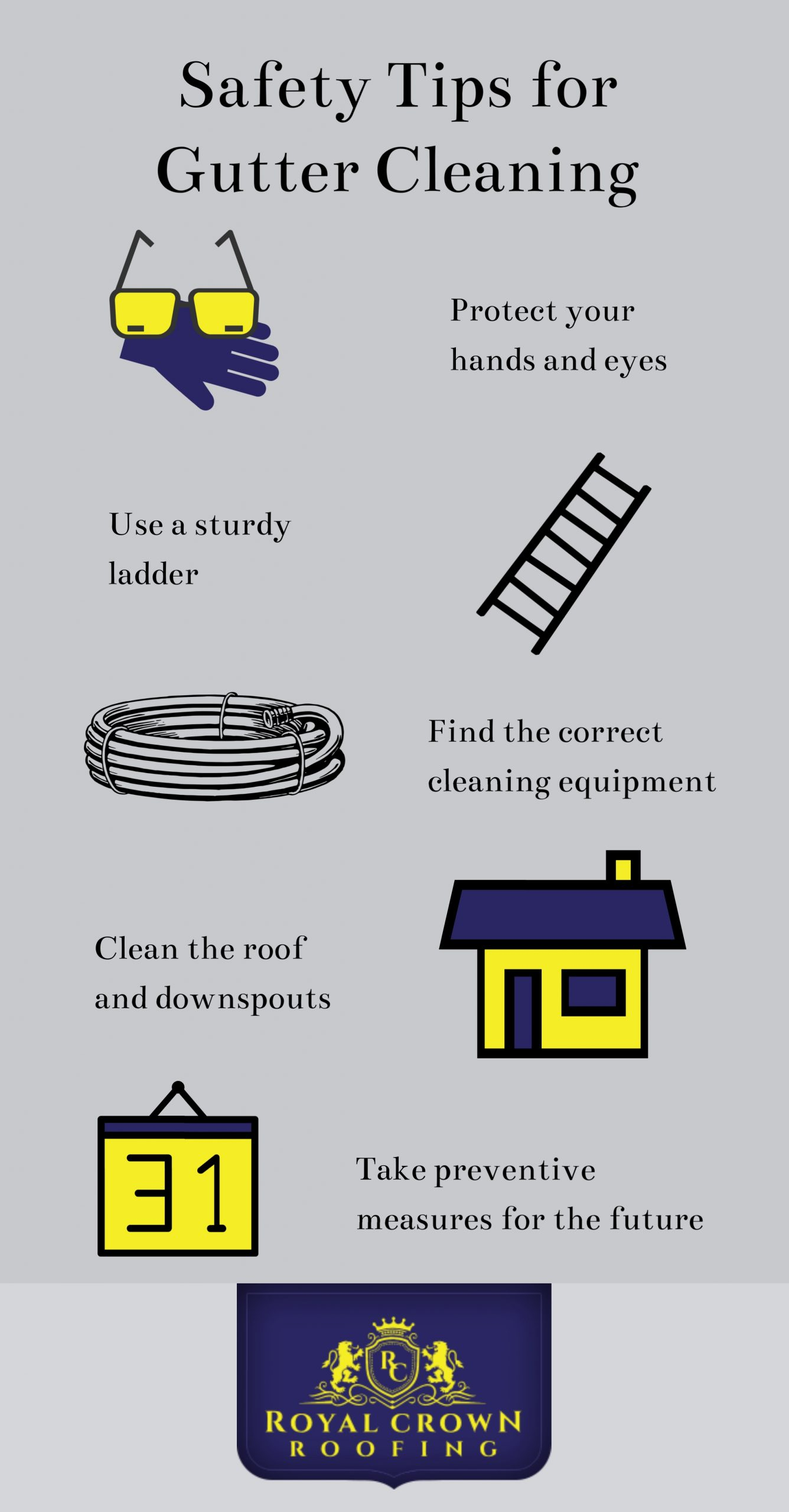 5 Gutter Cleaning Tips, Royal Crown Roofing, Conroe, TX