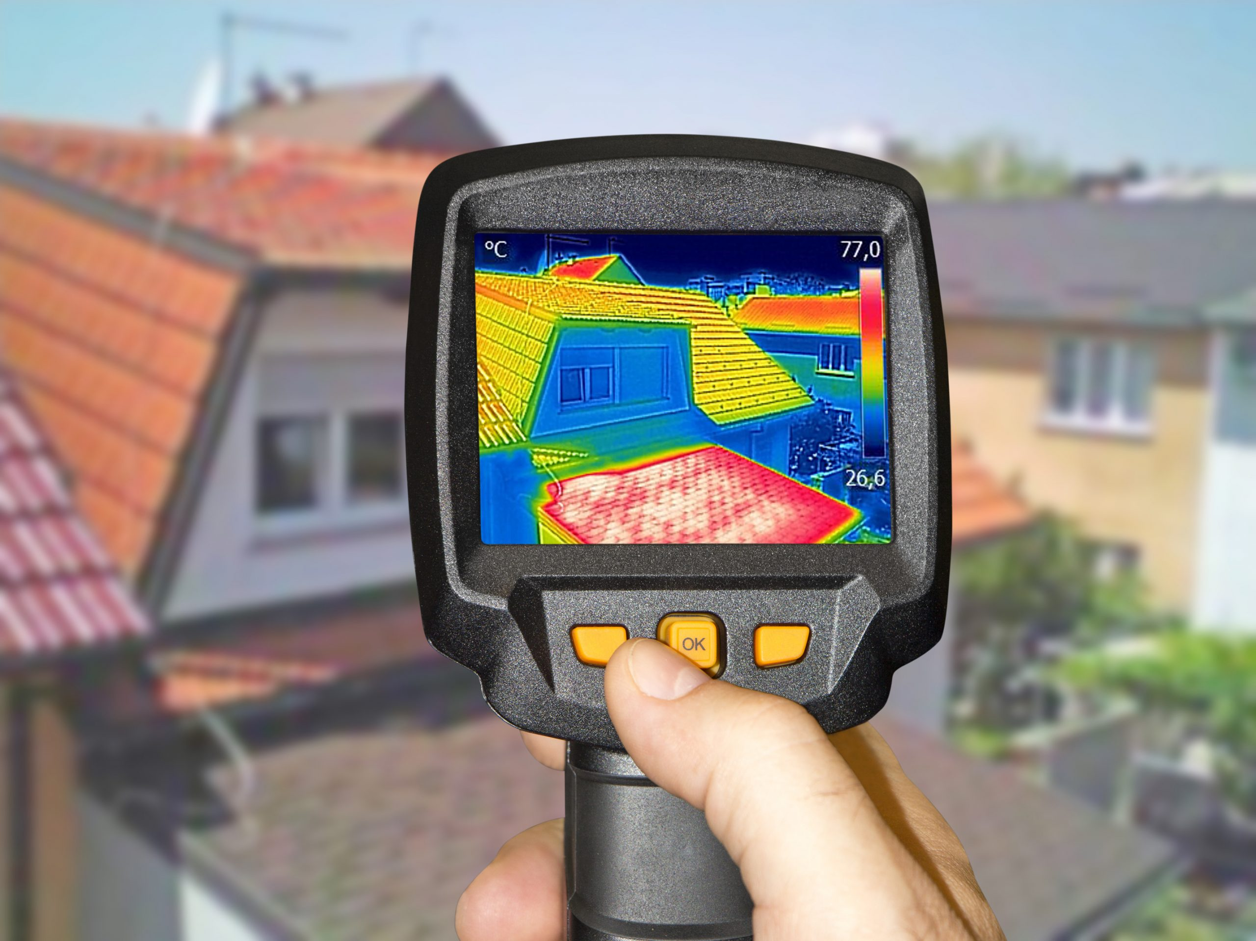 Thermal Leak Detection, Royal Crown Roofing The Woodlands. TX